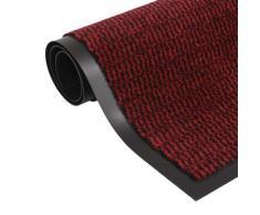 vidaXL Paillasson rectangulaire 80 x 120 cm Rouge