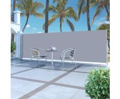 vidaXL Auvent latéral rétractable 160 x 500 cm Gris