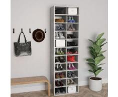 vidaXL Armoire à chaussures Gris béton 54x34x183 cm Aggloméré