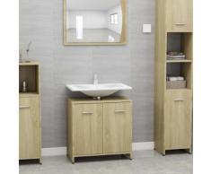 vidaXL Armoire de salle de bain Chêne sonoma 60x33x58 cm Aggloméré