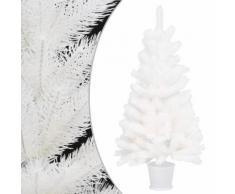 vidaXL Arbre de Noël artificiel Aiguilles réalistes Blanc 65 cm