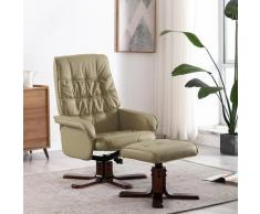 vidaXL Fauteuil inclinable avec repose-pied Cappuccino Similicuir