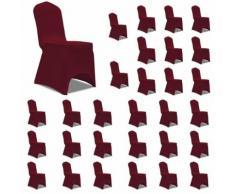 vidaXL Housses élastiques de chaise Bordeaux 30 pcs