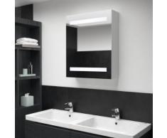 vidaXL Armoire de salle de bain à miroir LED 50x14x60 cm