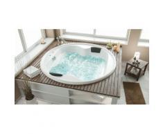 Baignoire balnéo Saturn ronde Premium sans robinets