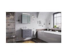 Ensemble de SDB Firenze 60 2 Pièces en anthracite avec armoire de toilette
