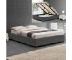 Sommier coffre de rangement Room - Couleurs - Gris, Tailles - 140x190