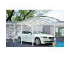 Bouvara Carport aluminium blanc 5x3 m