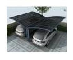 Bouvara Carport Papillon 2 voitures 5x6m gris anthracite