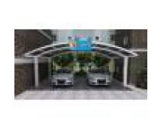 Bouvara Carport double 6x5m en aluminium blanc