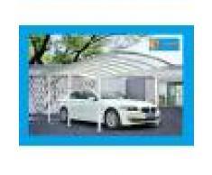 Bouvara Carport alu blanc 5,76x3m pour grand vehicule