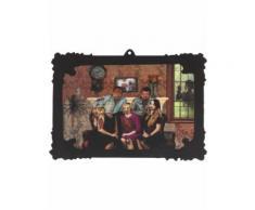 Décoration portrait de famille holographique 44 x 30 cm Halloween Taille Unique