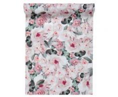 Chemin de table en tissu Bucolique rose 28 cm x 5 m Taille Unique