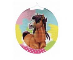 Lanterne ronde en papier Charming Horse 25 cm Taille unique