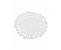Napperon en crochet blanc 30 cm Taille Unique