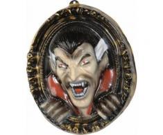 Décoration murale tableau vampire 3D 37 x 43 cm Halloween Taille Unique
