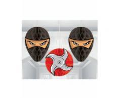3 Suspensions alvéolées Ninja Taille Unique