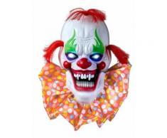 Décoration lumineuse et sonore clown effrayant 58 cm Halloween Taille Unique