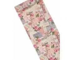 Chemin de table fleuri imprimé rétro 5 m Taille Unique