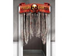 Décoration de porte Cirque halloween Taille Unique