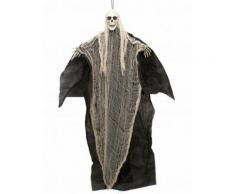 Décoration faucheuse noire et blanche à suspendre Halloween 110 cm Taille Unique