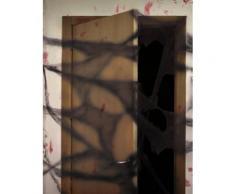 Décoration toile d'araignée noire avec araignées 20 g Halloween Taille Unique