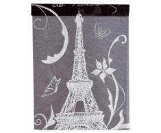 Chemin de table en tissu Paris noir et blanc 5 m Taille Unique