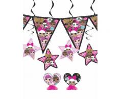 Kit de décoration anniversaire Lol Surprise 7 pièces Taille Unique