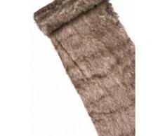 Chemin de table fourrure fauve 3m Taille Unique