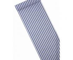 Chemin de table rayé bleu marine et blanc Taille Unique