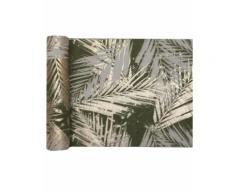 Chemin de table en coton végétal métal kaki doré 3 m Taille Unique