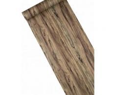 Chemin de table en vinyle effet bois 3 m Taille Unique