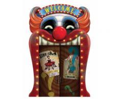 Décoration lenticulaire clown Halloween 46 x 31 cm Taille Unique