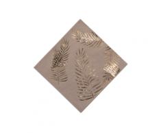 16 Serviettes en papier kraft Palmier doré 33 x 33 cm Taille Unique