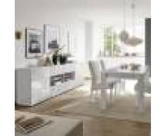 Kasalinea Salle a manger design blanc laqué buffet 241 cm NERINA