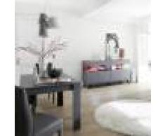 Kasalinea Salle à manger LED design grise et rouge PALERMO 5