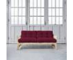 Futon Azur Step brut futon bordeaux