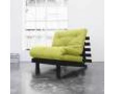Futon Azur Roots 90 Wengé futon Essentiel Pistache