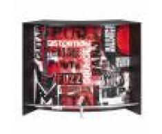 Simmob Meuble Bar Comptoir d'Accueil Noir 135 cm