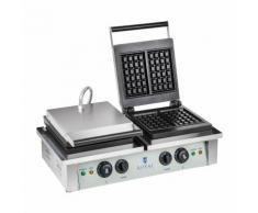 Royal Catering Gaufrier carré - 2 x 2.000 watts RCWM-4000-E