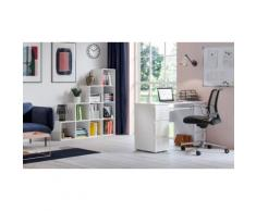 "Meuble bibliothèque escalier ""Pitagoras"" 10 compartiments : Blanc"