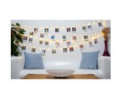 Guirlande LED avec pinces pour photos : 40 pinces LED / 1