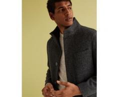 Marks & Spencer Funnel Neck Overcoat - Charcoal - XL-REG