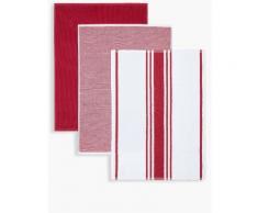 Marks & Spencer Lot de 3torchons à vaisselle assortis - Rouge