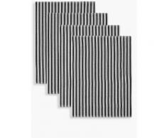 Marks & Spencer Lot de 4torchons à vaisselle avec motif tressé - Noir