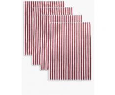 Marks & Spencer Lot de 4torchons à vaisselle avec motif tressé - Rouge