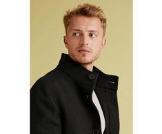 Marks & Spencer Funnel Neck Overcoat - Black - L-REG