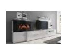 Groupon Goods Global GmbH Meuble cheminée avec foyer électrique à 5 niveaux de flamme, Livraison offerte