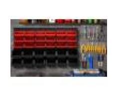 Groupon Goods Global GmbH Panneau mural avec 30 bacs à bec à rangement d'outils pour atelier ou garage