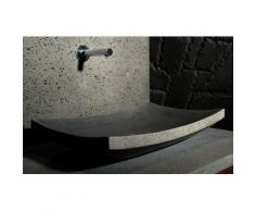 Vasque en pierre noire A poser 60x40 Basalte LOTUS